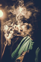 Smoke Kills [Explored!] (emiliokuffer) Tags: portrait backlight contrast contraluz retrato smoke contraste humo
