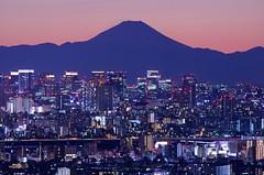 富士山 Mt. Fuji (ELCAN KE-7A) Tags: blue sunset japan tokyo fuji mt pentax dusk magic hour 日本 東京 moment ブルー 夕暮れ 富士山 2015 日没 ペンタックス マジック モーメント k5ⅱs アワー