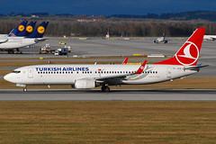 Turkish Airlines Boeing 737-800 TC-JFD (gooneybird29) Tags: airplane airport aircraft airline boeing flughafen muc flugzeug 737 turkishairlines tcjfd