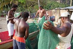 Pêcheurs de l'île Sainte-Lucie, Caraïbes. (Pierre Gouyou Beauchamps) Tags: pêche caraïbes pche saintelucie cara•bes airemarineprotégée airemarineprotžgže