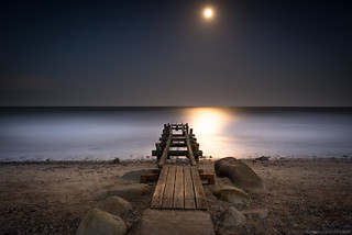 Fehmarn and the moon