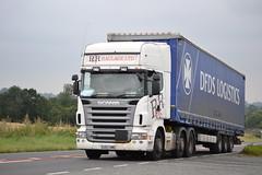 Scania R480 'R & R Haulage Ltd' reg EU57 HME (erfmike51) Tags: lorry artic curtainside scaniar480 rrhaulage