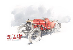 ITALAcol s (Stefan Marjoram) Tags: art classic car pencil vintage sketch drawing watercolour gp vscc itala