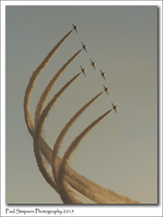 Red Arrows at Sunset (Paul Simpson Photography) Tags: sunset speed airplane evening fly dusk flight aeroplane lincolnshire airshow planes redarrows raf airshows formationflying photosof imageof photoof rafscampton imagesof sonyphotos sonyphotography sonya77 paulsimpsonphotography february2015