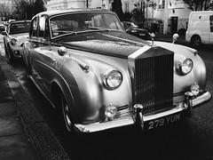 Rolls (Cris Ward) Tags: street uk blackandwhite london monochrome car contrast prime daylight automobile walk sigma sunny wideangle rollsroyce olympus monotone motor omd csc 19mm mirrorless microfourthirds olympusomdem10 sigma19mm28dnart