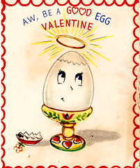 A Good Egg (Calsidyrose) Tags: red love illustration vintage paper design heart graphic sweet kawaii font type romantic cupid valentinesday typeface valentinescard ephemeramcute