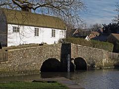 Eynsford, Kent, England (GABOLY) Tags: bridge england ford river kent january eynsford 2015 darent