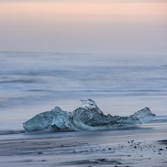 (Attila Pasek) Tags: ocean beach river iceland wave glacier jkulsrln longexposuretime