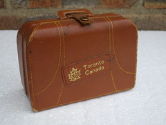 Small Leather Suitcase From Toronto Canada Containing Vodka  Rum Gin & Rye Bottles Mid Century Kitsch (beetle2001cybergreen) Tags: from toronto canada leather century boot bottles sale small rye few vodka ago rum years gin suitcase find mid containing a kitschcar
