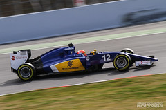 IMG_3337 (Francesco Segato) Tags: barcelona speed canon f1 testing formulaone 7d sauber panning formula1 felipe motorsport montmelo motori nasr c34