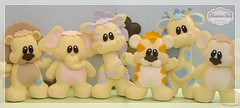 Safari Toys (Mamma Mia Handmade) Tags: toys felt safari infantil feltro em enfeite