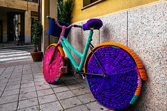 Crochet SalaBiKE 2.0 (Walimai.photo) Tags: plaza color colour bike lumix crochet panasonic bici salamanca zoes oeste ganchillo lx5 bicicldeta