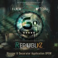6º Republic Event: Blogger & Decorator Application OPEN!! (Mikaela Carpaccio - 6º Republic Event) Tags: