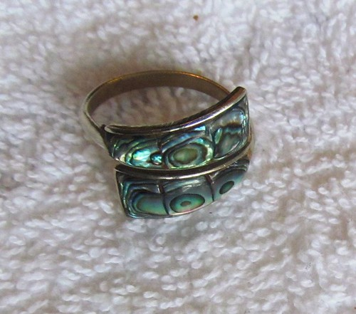 COPPER TURQUOISE FASHION JEWELRY .925 SILVER PLATED RING 9 S23008
