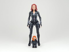 Mini-Me Black Widow (TheBrickMaestro) Tags: black scarlett comics lego super legends heroes marvel widow natasha figures hasbro minifigure romanoff johannson
