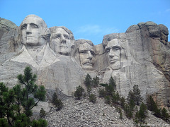 Mount Rushmore up close and personal (US Department of State) Tags: sculpture mountains west southdakota blackhills landscapes washington midwest nps landmarks icon roosevelt lincoln jefferson mountrushmore nationalparks presidents scenics nationalparksservice mountrushmorenationalmemorial timbrown