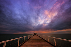 let your faith be bigger than your fear (Bec .) Tags: ocean light sunset colour beach water clouds canon pier adelaide bec southaustralia 1022mm lightposts 10mm grangejetty 80d grangebeach letyourfaithbebiggerthanyourfear