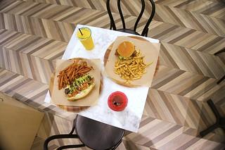 Kalbi Shortrib Sandwich & Chicken Teriyaki Burger Combos