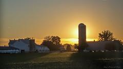 Misty Amish Sunrise_3245 (smack53) Tags: morning vacation sky barn sunrise canon early pennsylvania farm earlymorning powershot silo lancastercounty paintedsky morningsky g12 amishcountry canonpowershotg12 smack53 amishvacationjuly2012