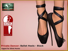 Bliensen - Private Dancer - Black (Plurabelle Laszlo of Bliensen + MaiTai) Tags: romp fetishshoes balletheels highheels secondlife sl bliensenmaitai bliensen