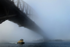 Foggy Sydney Harbour - Explore (Bruce Kerridge) Tags: explore sydney harbour fog ferry water dawn mist sony rx