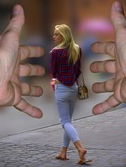 The Edge (swong95765) Tags: woman beauty female going gone edge blonde reach letgo