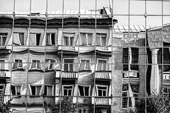 Distorted life in cells (kirilko) Tags: vinnytsia reflections mirrors urbanlife urban      bw canoneos5d ef24105mmf4lisusm     distortions   cells