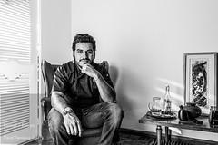 David Paniagua (David Paniagua Guerra) Tags: portrait blackandwhite blancoynegro francisco retrato chef sentado paco mexicano molina cocinero tlaxcala varon davidpaniagua