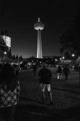Skylon Tower (Cirque_Noir) Tags: blackandwhite monochrome night niagarafalls streetphotography bnw skylontower