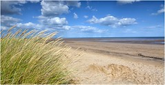 Deserted beach .. (Alan Burkwood) Tags: lincolnshire coast marram grass north sea sand ndgradfilter