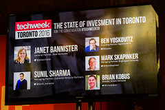 _19A1694 (TechweekInc) Tags: techweektoronto2016 investment state techweek event 2016 startup technology tw innovation toronto tech to fest canada attendees festival berkeley church summit stage overbond janet bannister real ventures brian kobus omers sunil sharma extreme venture partners mark skapinker brightspark entrepreneur ben yoskovitz beta highline moderators speakers