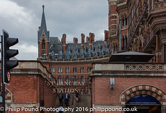 Entrance to St Pancras Railway Station (Philip Pound Photography) Tags: london station st train railway pancras