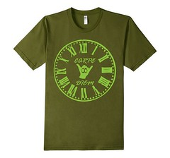 Carpe Diem Green ink Olive Green T-Shirt (Saggio Designs) Tags: different live tshirt your passion designs success determination persistence saggio individuality perfectly