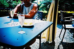 Prosecco (Stephen Dowling) Tags: travel summer italy film 35mm xpro lomography crossprocessed sanremo cosinacx2 agfact100precisa