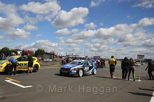 Aiden Moffatt's car during the Grid Walks at the BTCC 2016 Weekend at Snetterton
