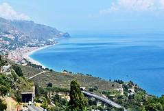 Taormina - coastal view 1 (Sussexshark) Tags: 2016 may holiday vacanza sicily sicilia taormina view coast northwards