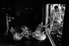 Local breakfast shop in Mui Ne, Vietnam (3) (-clicking-) Tags: streetphotography streetlife streetvendor streetportrait blackandwhite blackwhite nocolors monochrome monotone bw dailylife life breakfast vietnam
