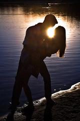 Maria i Norbert (eosxd) Tags: sunset water out portrait poland ostrw wielkopolski