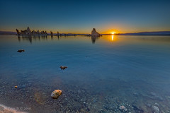 Sunrise at Mono Lake (ScorpioOnSUP) Tags: battleship bluesky california desert lake landscape landscapephotography monolake mountainline reflections rockformations rocks salt sky southtufa sun sunrise sunriseglow water