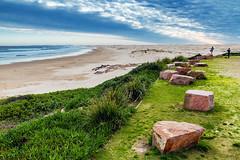 Stockton Beach ('Whitewithone) Tags: australia au newsouthwales nsw portstephens annabay birubipoint birubibeach stocktonbeach beach sea ocean sand sanddunes surf waves coastline clouds coast