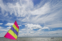 Ready, steady ... (skipnclick) Tags: sail sky water sea ocean fluttering clouds scudding opi