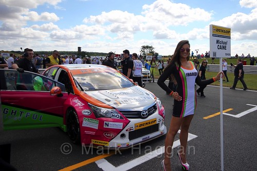 Michael Caine's car during the Grid Walks at the BTCC 2016 Weekend at Snetterton