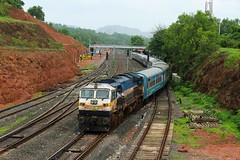 MAO - DR Janshatabdi SF (B V Ashok) Tags: indianrailways ir ed erode wdp4d 40174 emd sr thivim thvm kr konkan madgaondadar maodr 12052 janshatabdi superfast express