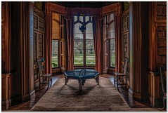 The west wing library (Hugh Stanton) Tags: window table blinds carpet stately