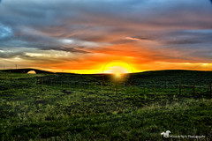 BREAK OF DAWN (Aspenbreeze) Tags: surnise dawn morning breakofdawn wyoming country rural sun morningsunrise clouds sky bevzuerlein aspenbreeze moonandbackphotography