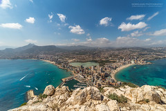 Calpe Wide Angle View (Normann Photography) Tags: pov samyang14mmf28 spain visitspain atthetop cloudporn summit wideanglelens calp comunidadvalenciana spania es