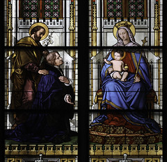 Ora pro nobis! (Lawrence OP) Tags: holyfamily saints cologne cathedral stainedglass window ourlady blessedvirginmary prayer intercession jesuschrist stjoseph