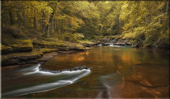 An imaginary prelude to Autumn gold (~Fred Wolfe~) Tags: waterfalls westvirginia dunloupcreek newrivergorge