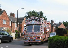 Indian Bus 2 (Chris.,) Tags: art artists brightlycoloured bus creativecommons4 customart england indian indianwedding jinglebus multicoloured painting pakistan pakistanwedding rotherham southyorkshire tradition traditional truck uk wedding