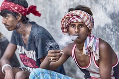 Kolkata (daniele romagnoli - Tanks for 14 million views) Tags:    indien india romagnolidaniele d810 nikon asia  inde indiana indiani  strada street road indie portrait ritratto sguardo calcuta calcutta face kolkata fumo